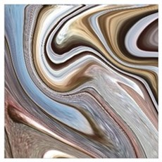 modern swirls Canvas Art